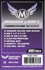 Clear - (Mayday Games) Standard USA Sleeves - 56mm x 87mm - 100ct