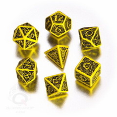 Yellow & Black Celtic Dice Set