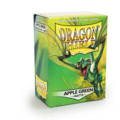 Matte Apple Green - Standard Boxed Sleeves (Dragon Shield) - 100 ct