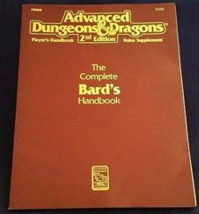 2nd Edition The Complete Bard's Handbook (Dungeon & Dragons)