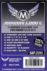 Clear - (MayDay Games) Standard USA - 56mm x 87mm