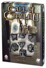 Call of Cthulhu Dice: Glow-In-The-Dark 7-Die Set (Black)