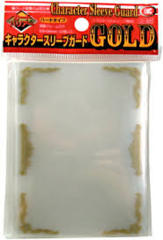 Clear - Gold - Standard Sleeves (KMC) - 50 ct