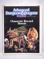 2nd Edition Character Record Sheets (Dungeon & Dragons)
