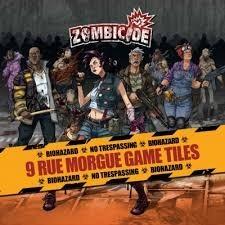 Zombicide - 9 Rue Morgue Game Tiles