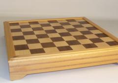 Russian Shesham - Inlaid Beech & Maple - Chess Set - 4 1/4