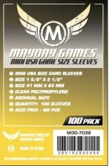 Clear - (Mayday Games) Mini USA Sleeves - 41mm x 63mm - 100ct