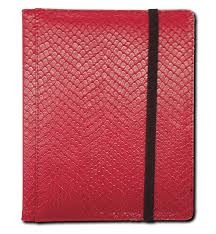 Dragon Hide 3x4 Pocket Binder - Red