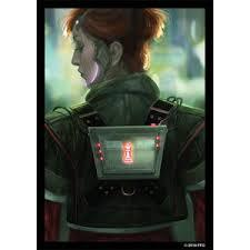 Deep Red - Android Netrunner Sleeves - (Fantasy Flight) - Standard