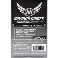 Clear - (Mayday Games) Magnum Sleeves - 70mm x 110mm - 100ct