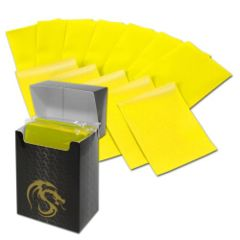 Matte Yellow - Standard Boxed Sleeves (BCW) - 80 ct