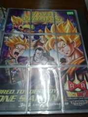 DBZ Android Saga Advertisement 9 Card Puzzle Set