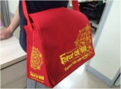 FOW Shoulder Courier Bag (Red w/ Yellow Lettering)