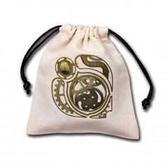 Steampunk Beige Dice Bag
