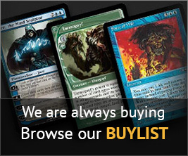 Sell us cards on our buylist