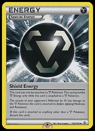 PRIMAL CLASH POKEMON TRAINER CARD NEW MINT SHIELD ENERGY 143//160